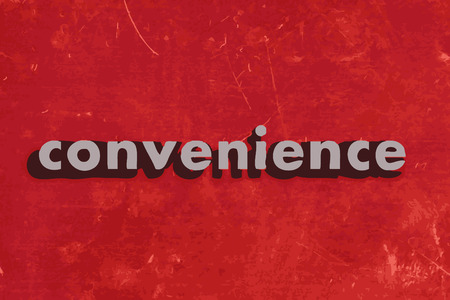 convenience: convenience vector word on red concrete wall Illustration