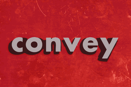 convey: convey vector word on red concrete wall
