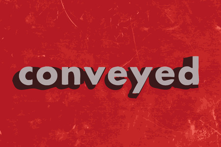 conveyed vector word on red concrete wall Illustration