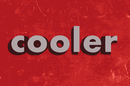 cooler: cooler vector word on red concrete wall Illustration
