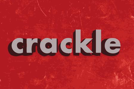 craquelure: mot de vecteur craquement sur le mur de b�ton rouge