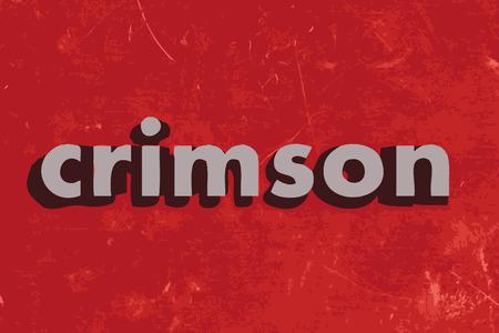 crimson: crimson vector word on red concrete wall Illustration