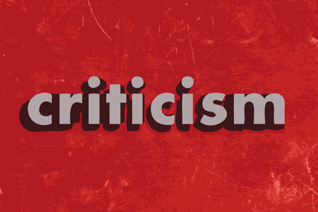 criticism: criticism vector word on red concrete wall Illustration