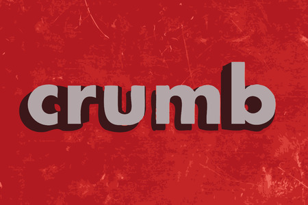 crumb: crumb vector word on red concrete wall