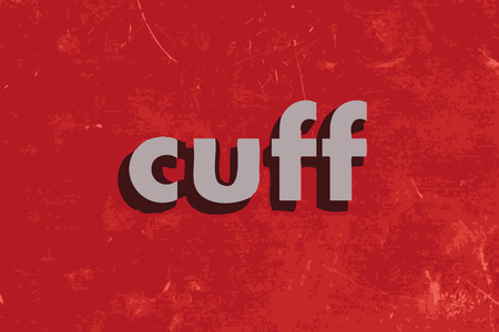 cuff: cuff vector word on red concrete wall