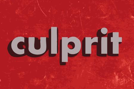 culprit: culprit vector word on red concrete wall Illustration