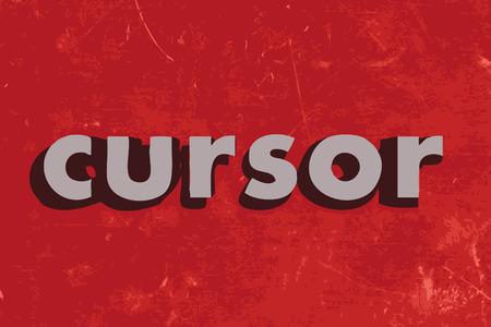 cursor: cursor vector word on red concrete wall