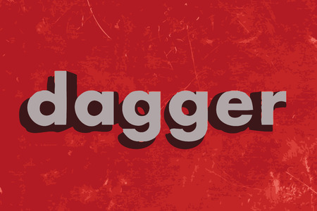 dagger: dagger vector word on red concrete wall Illustration
