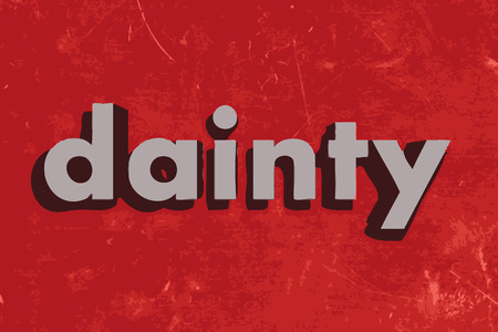 dainty: dainty vector word on red concrete wall