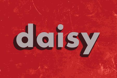 daisy vector: daisy vector word on red concrete wall