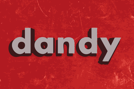 dandy: dandy vector word on red concrete wall