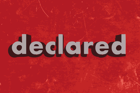 declared: declared vector word on red concrete wall
