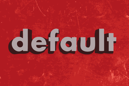 default: default vector word on red concrete wall