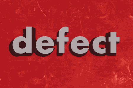 defect: defect vector word on red concrete wall