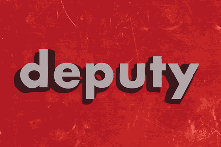 deputy: deputy vector word on red concrete wall Illustration