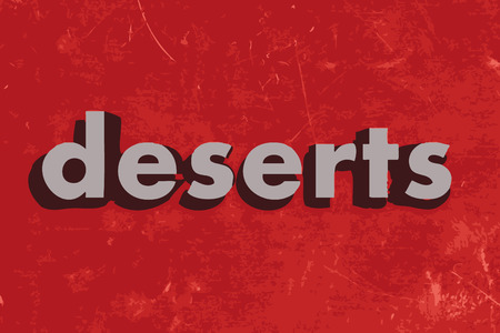 deserts: deserts vector word on red concrete wall Illustration