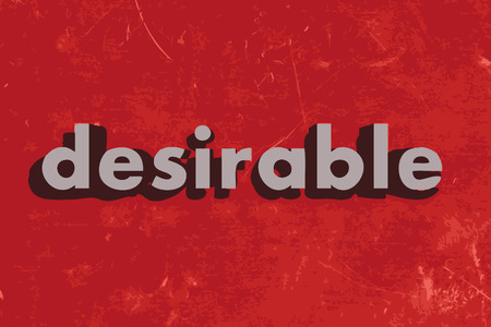 desirable: desirable vector word on red concrete wall Illustration