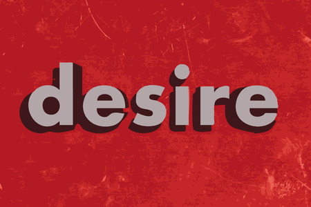 desire: desire vector word on red concrete wall Illustration