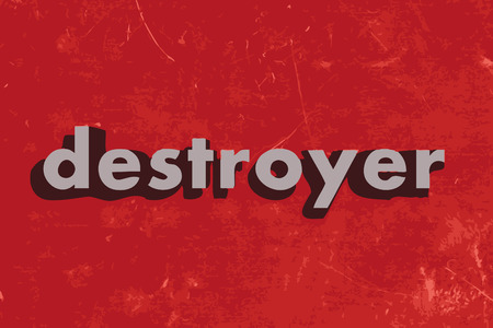 destroyer: destroyer vector word on red concrete wall