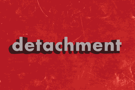 detachment: detachment vector word on red concrete wall