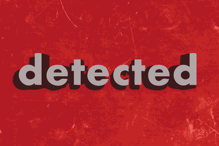 detected: detected vector word on red concrete wall