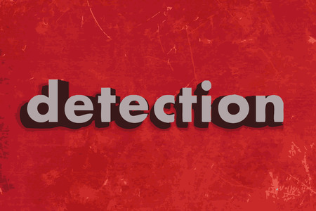 detection vector word on red concrete wall Illustration