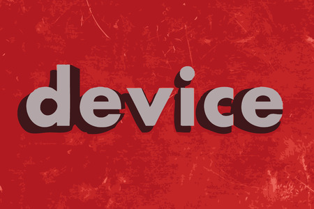 device: device vector word on red concrete wall