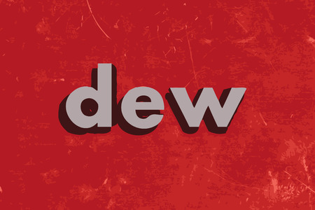 dew: dew vector word on red concrete wall