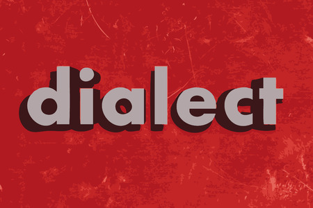 dialect: dialect vector word on red concrete wall