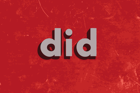 did: did vector word on red concrete wall