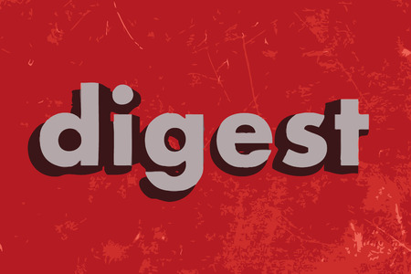 digest: digest vector word on red concrete wall