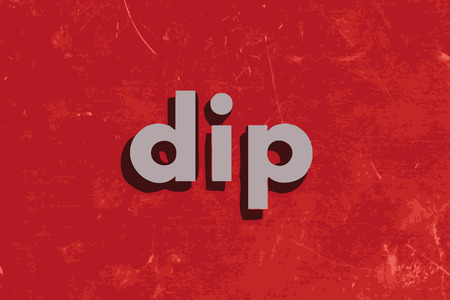 dip: dip vector word on red concrete wall