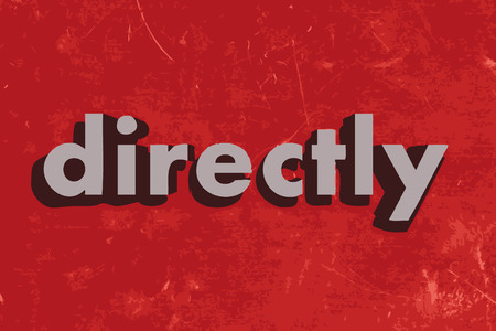 directly: directly vector word on red concrete wall Illustration