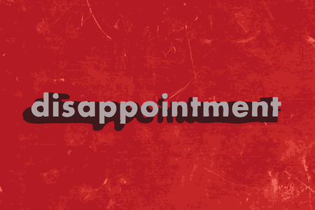disappointment: disappointment vector word on red concrete wall Illustration