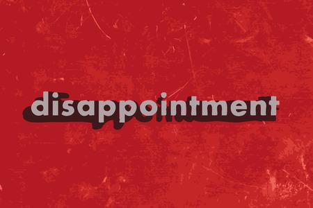 decepci�n: palabra decepci�n vector en rojo muro de hormig�n