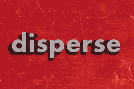 disperse: disperse vector word on red concrete wall