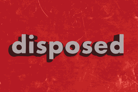 disposed: disposed vector word on red concrete wall Illustration