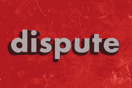 dispute: dispute vector word on red concrete wall Illustration