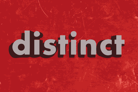 distinct: distinct vector word on red concrete wall