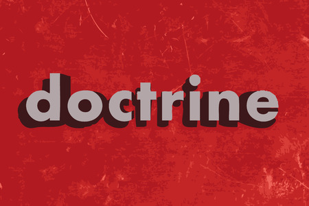 doctrine: doctrine vector word on red concrete wall