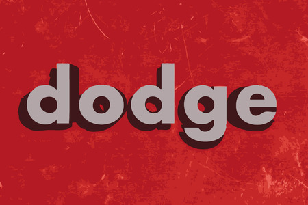 dodge: dodge vector word on red concrete wall