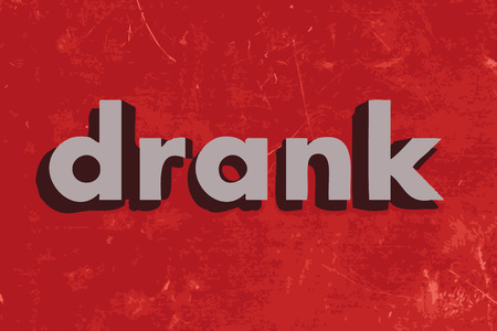 drank: drank vector word on red concrete wall Illustration