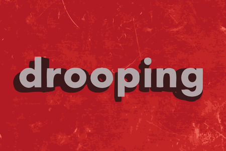 drooping: drooping vector word on red concrete wall Illustration