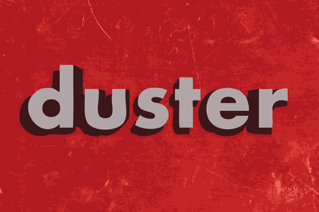 duster: duster vector word on red concrete wall Illustration