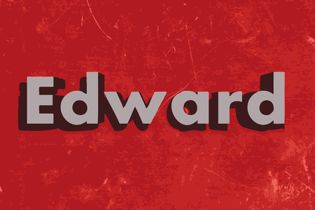 edward: Edward vector word on red concrete wall Illustration