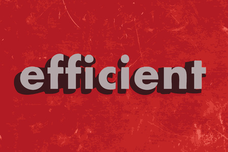 efficient: efficient vector word on red concrete wall Illustration