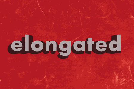 elongated: elongated vector word on red concrete wall Illustration