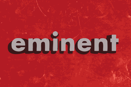 eminent: eminent vector word on red concrete wall Illustration