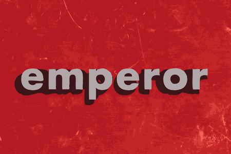 emperor: emperor vector word on red concrete wall