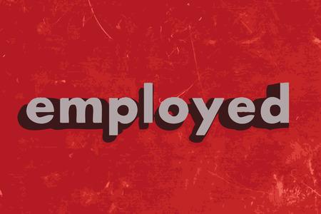 empleadas: palabra vector empleado en rojo muro de hormig�n